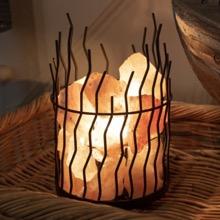 Wire Basket Salt Lamp