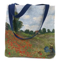 Monet's  Poppy Fields Gusset Bag