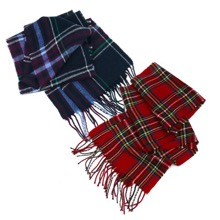 Ladies Tartan Scarf Set