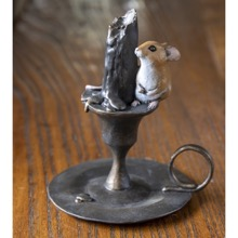 Mouse On Candlestick Figurine