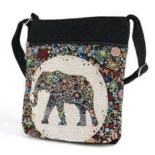 Tapestry Elephant Shoulder Bag
