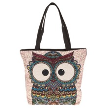 Wide-Eyed Owl Tote Bag