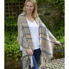 Western Style Taupe Stripe Thick Scarf