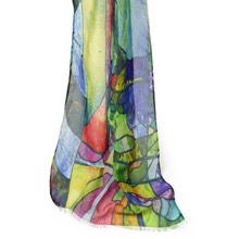 Stained Glass Window Scarf Morning Light