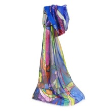 Stained Glass Window Scarf Twilight