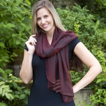 Eastern Promise Red Shimmer Scarf