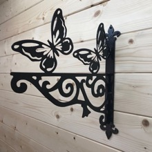 Butterfly Ornamental Hanging Basket Bracket