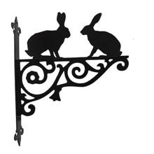 Hare Ornamental Hanging Basket Bracket