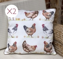 Two Chickens Cushions