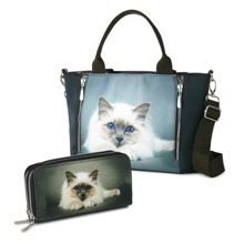Cute Kitty Purse and Bag Set
