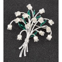 Lily Of The Valley Bouquet Brooch