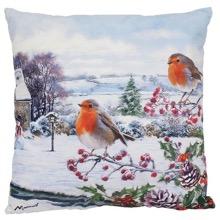 Hedgerow Robins LED Cushion