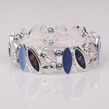 Paua Shell & Purple Oval Magnetic Bracelet