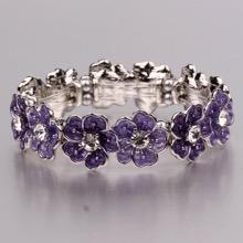 Aubretia Flowers Magnetic Bracelet