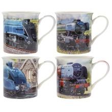 Classic Trains Mug Set